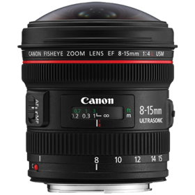 Canon EF 8-15mm F4L Fisheye USM