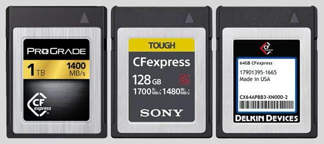 memory card cfexpress 3 size