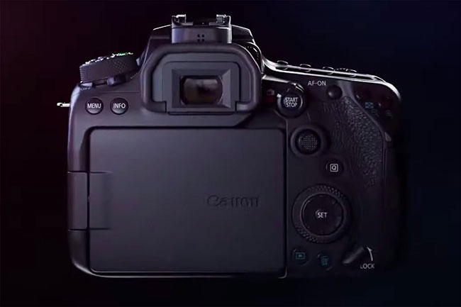 canon 90d back