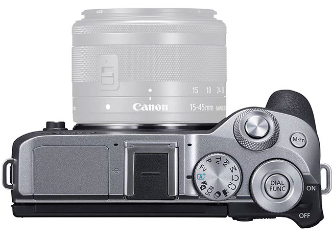 canon eos m6 mark ii top view 1