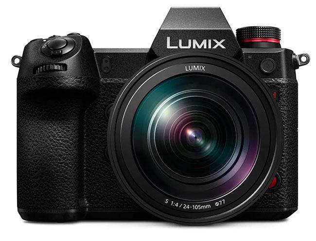panasonic lumix s1h with lens
