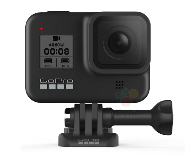 gopro hero8 mount front view