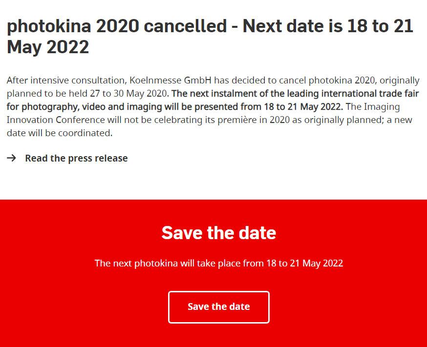 photokina cancelled